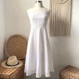 Vintage J.crew strapless cotton fit and flare midi